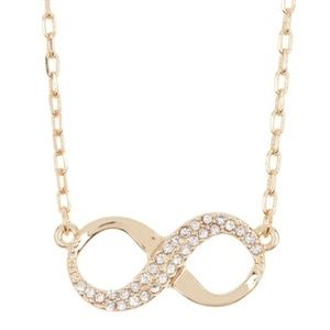 Vince Camuto Gold Pave Crystal Infinity Necklace